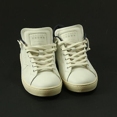 Sneakers Uomo Leather Crown Bassa Pelle Bianco - 8899