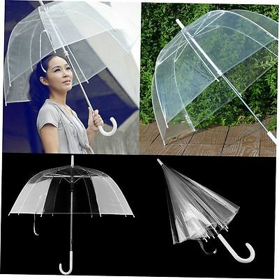 Fashion Transparent Clear Automatic Umbrella Parasol For Wedding Party Favor D#
