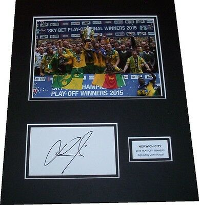 John Ruddy - Norwich City Signed Card Mounted Display 2015 Play-Off Winners