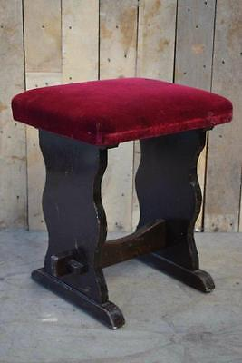 Retro Vintage Solid Wooden Foot Stool / Telephone Seat / Stool - Shabby Chic?