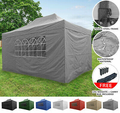 AirWave 4.5x3mtr FULLY WATERPROOF Pop Up Gazebo 4 Side Panels and Bag