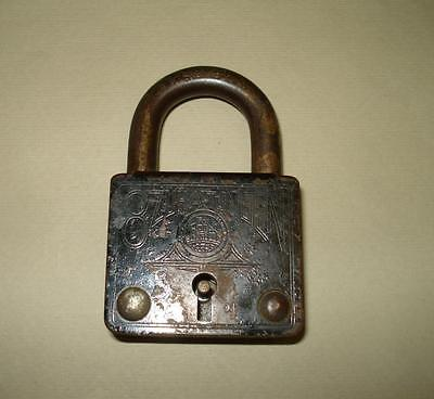 Antique German Padlock DRGM ,Many Inscriptions
