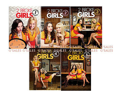 2 Two Broke Girls TV Series Complete Season 1-5 (1 2 3 4 5) NEW 15-DISC DVD SET