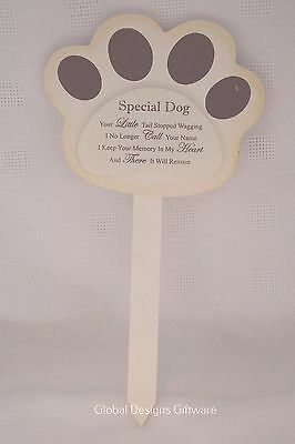 Special Dog Grave Marker Stick Stake Memorial Tribute Your Little Tail F1625
