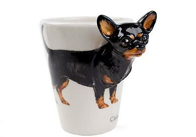 Blue Witch 3D - Chihuahua Ceramic Hand Crafted Coffee Mug