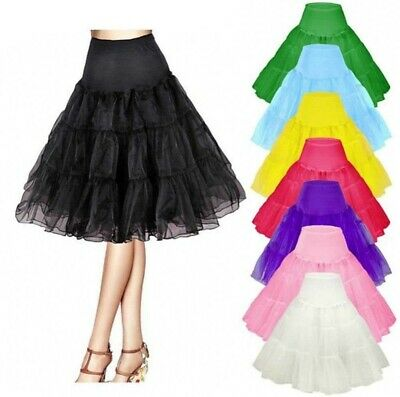 Ladies Vintage 50's Underskirt Petticoat Rockabilly Swing Tutu Skirt Wedding
