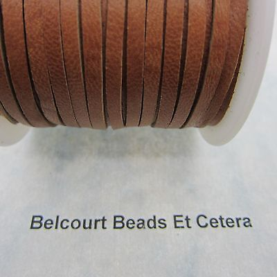 10' Deer Leather Saddle Tan Lace 3mm x 1mm Thick Real Leather Crafts Made in USA