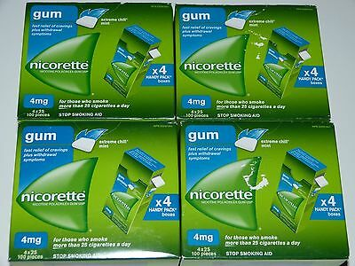 Nicorette Gum 4 Mg Extreme Chill Mint 400 Piece