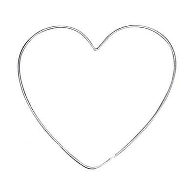 Knorr Prandell Metal 4mm Wire Heart - 1pc