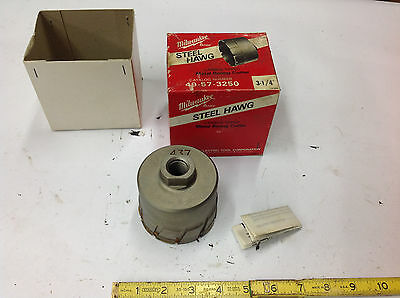 "3-1/4"" Milwaukee 49-57-3250 Carbide Tipped Steel Hawg Metal Boring Cutter. NEW"