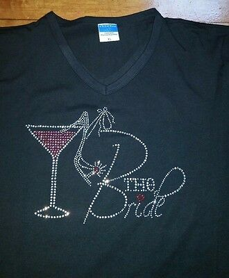 Bling Rhinestone The Bride T-Shirt Black
