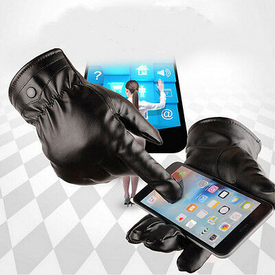 Sales Mittens Warm Winter Gloves Driving Men's Women Leather Gloves Touch Screen