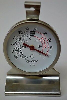 New Thermometer Refrigerator/Cooler/Freezer Heavy Duty CDN RFT1 NSF Free Ship!