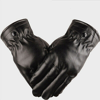 Mittens Winter Warm Gloves Driving Men's Women Leather Gloves Touch Screen