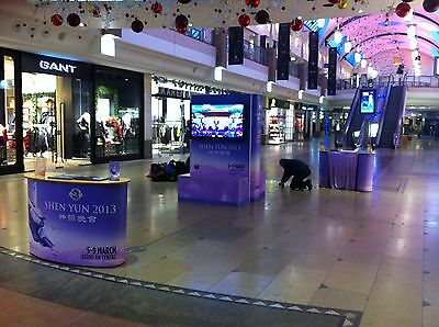 "Rent 50"" TV & Stand, LED Big Screen Trade Show Display Set for Event Exhibition"