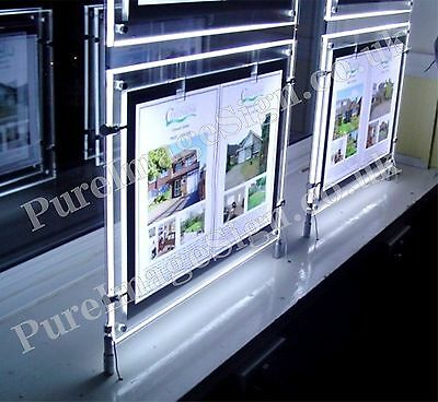 A3 SAVE ENERGY LED ILLUMINATED SHOP SIGN 3 UNIT Quantity WINDOW DISPLAY SIGNS