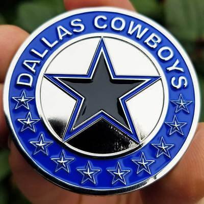 PREMIUM NFL Dallas Cowboys Popout Poker Card Protector Golf Marker Coin NEW