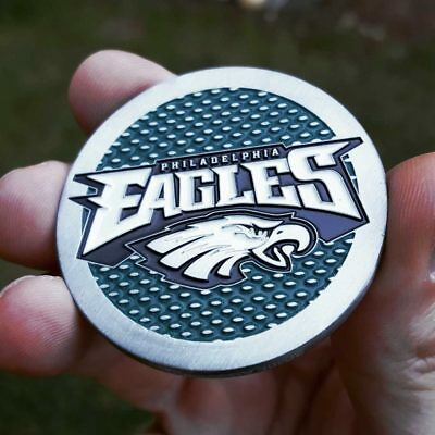 PREMIUM NFL Philadelphia Eagles Poker Chip Card Protector Metal Coin Golf Marker