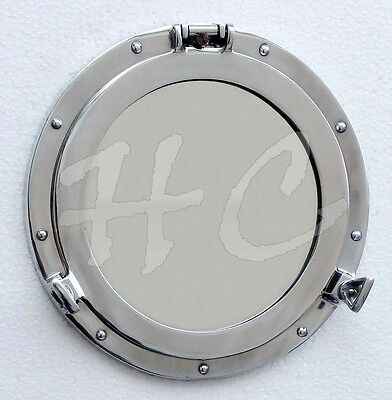 Aluminium Porthole Port Window Ship Boat Port Hole Round Mirror Home Wall Decor