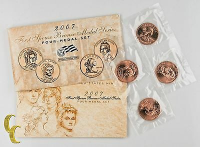 2007 First Spouse Bronze Medal Series 4 Medal Set US Mint