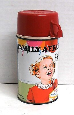 Vintage 1969 Metal Family Affair Happy Birthday Mrs. Beasley Thermos Bottle