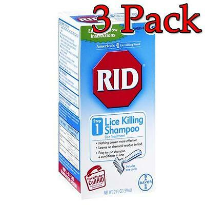RID Lice Killing Shampoo, Step 1, 2oz, 3 Pack 074300004129T566