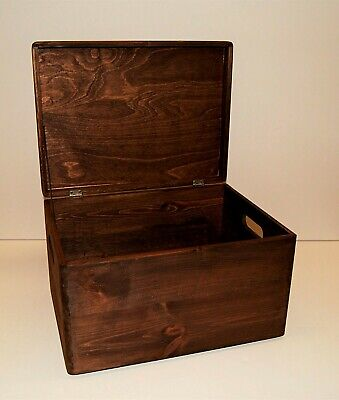 NEW Big Brown Wooden Storage Box Double Dyed - Strong & Beautiful 1000s sold