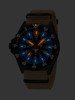 KHS Tactical Police Military Field H3 Watches Trigalights Easy To Read Date