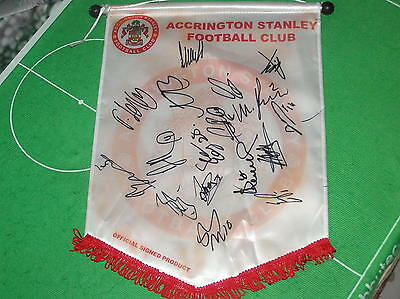 Accrington Stanley FC Pennant Signed x 17 2016/17 Season First Team Players