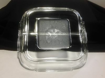 "Divided 6 1/2"" Square Replacement Lid for Pyrex Baking Dishes- No Damage"