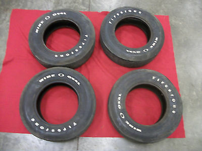 Firestone F70-15 Super Sport Wide Oval White Letter Tires, Used