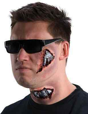 I'll Be Back Cyborg Terminator Robot Halloween Costume Makeup Latex Prosthetic
