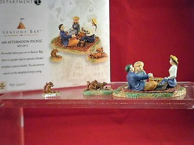 Department 56 NEW IN Box Seasons Bay An Afternoon Picnic