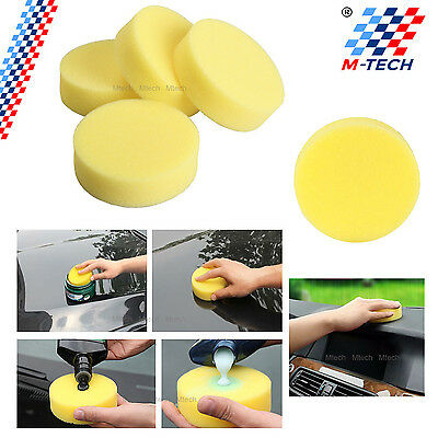 Set 4 Sponges Applicator Wax Cleaning Detailed Pad Care Bmw E90 E91 Series 3