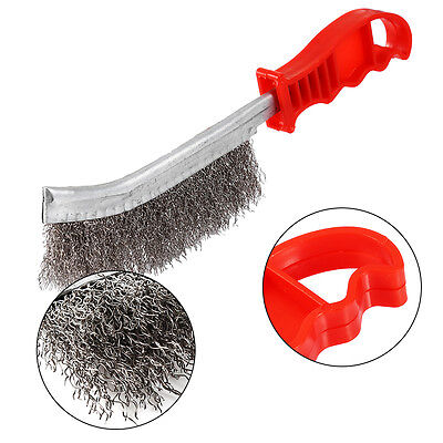 Heavy Duty Wire Hand Brush Stainless Steel Bristles Rust Paint Removal Tool New