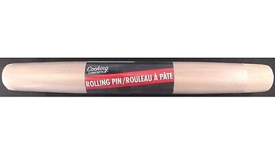 "PASTRY ROLLING PIN Tapered Ends 12"" for Pastries, Crusts, Biscuits, Cooking"
