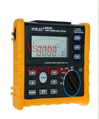 Equipments HYELEC MS2302 NEW Digital Ground Earth Resistance Tester for Electric