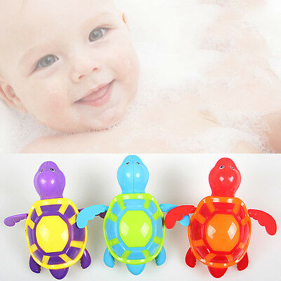 Wind up Swimming Water Turtle Animal Toy Kids Baby Children Pool Bath Time Fun