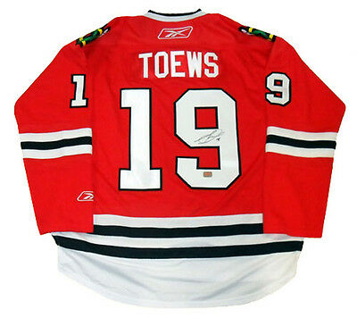 Jonathan Toews Autographed Red Chicago Blackhawks Jersey
