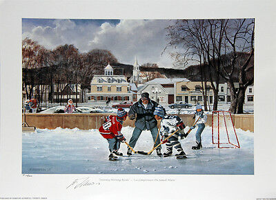 Saturday Morning Rivals Lithograph - Signed By Lafleur - Montreal Canadiens