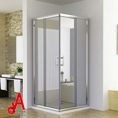 760/800/860/900/1000/1100/1200 Square Corner Sliding Doors Shower Screen Cubical
