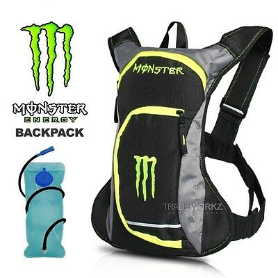 2L MONSTER Hydration Water Bag Pack Backpack Rucksack Cycling Camping Bladder