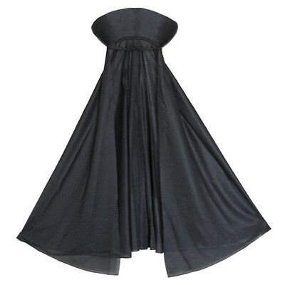 Halloween Kids Black Collared Cape Vampire Witch Wizard Costume Fancy Dress
