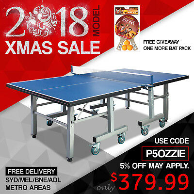 25MM Top Pro Size Table Tennis Ping Pong Table Free Cover & Net & Racket & Balls