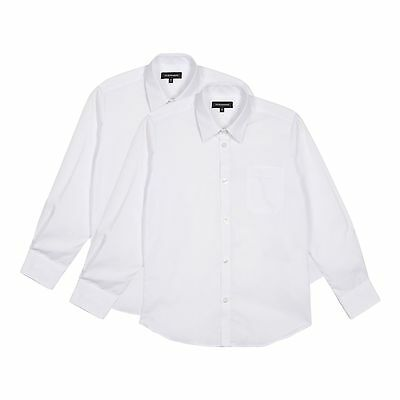 Debenhams Kids Pack Of Two Boy's White Long Sleeved School Shirts From Debenhams