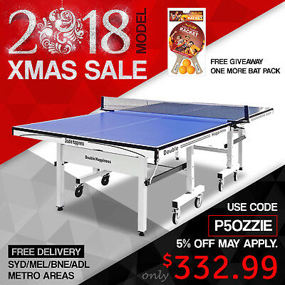 2017 New Double Happiness Quality 19MM Top Pro Size Table Tennis Ping Pong Table