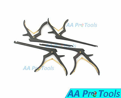 """AA Pro: Kerrison Rongeurs 6"""" Black (1, 2, 3, 4mm) Cervical Orthopedic Surgical"""