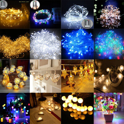 20/30/100/200/300/500LED Fairy String Lights Lighting Christmas Xmas Party Decor