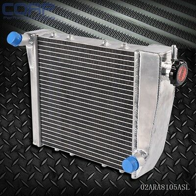 Racing Aluminum Radiator FOR AUSTIN ROVER MINI COOPER 1967-1991 68 69 Silver