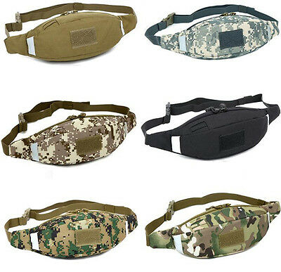 Men's Nylon Waist Fanny Pack Outdoor Running Sports Tactical Military Chest Bag